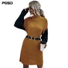 Pgsd женский осенне зимний вязаный свитер водолазка в западном