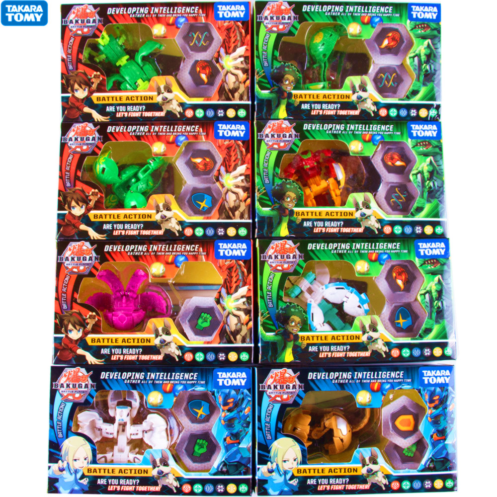 8Pcs/set TOMY New BAKUGAN Ultra 3-inch Collectible Action Figure And Trading Card Battle Toys