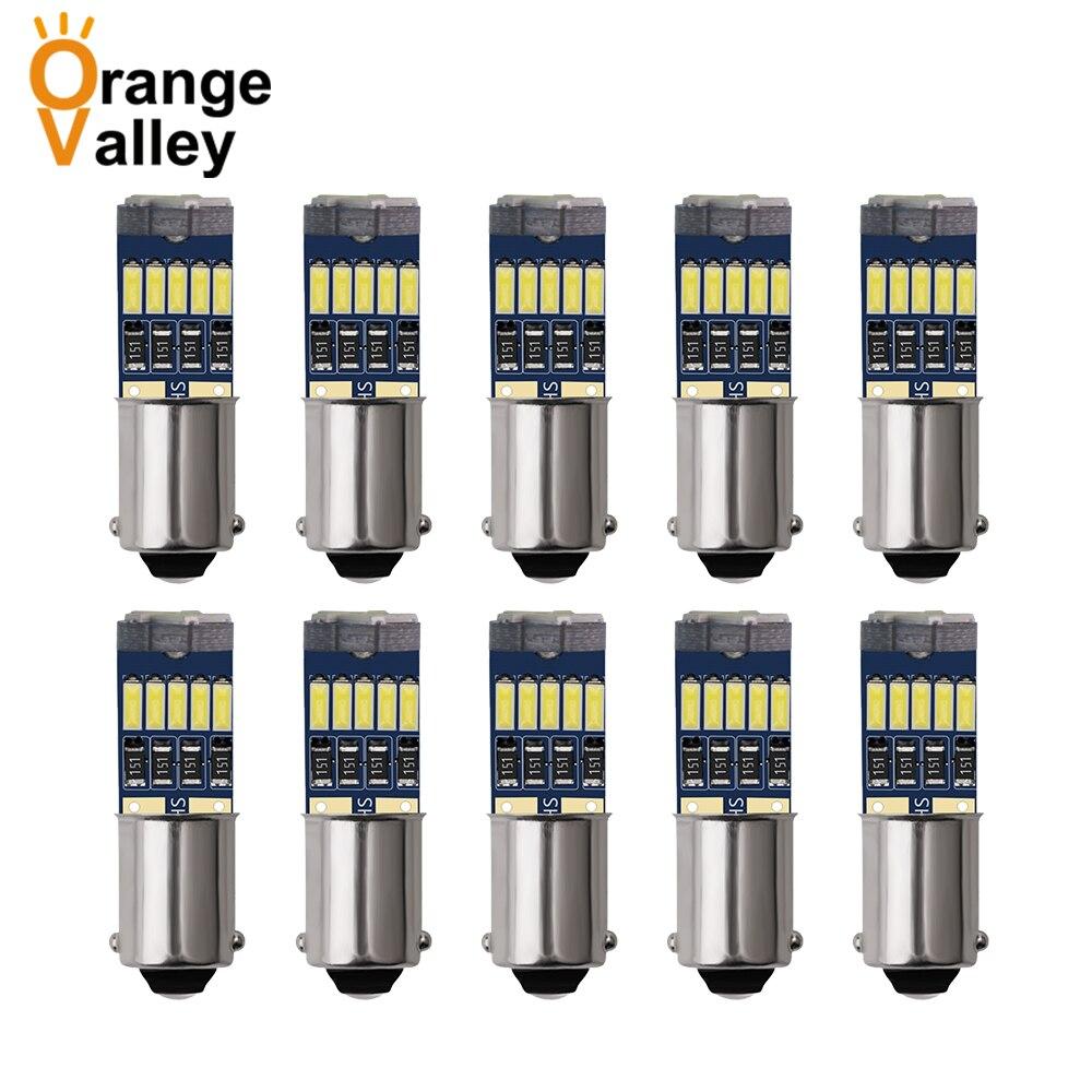 10 шт. BA9S светодиодный H6W T4W 15 Светодиодный светильник для заднего интерьера автомобиля 4014 SMD автоматический светильник номерного знака Лампа...