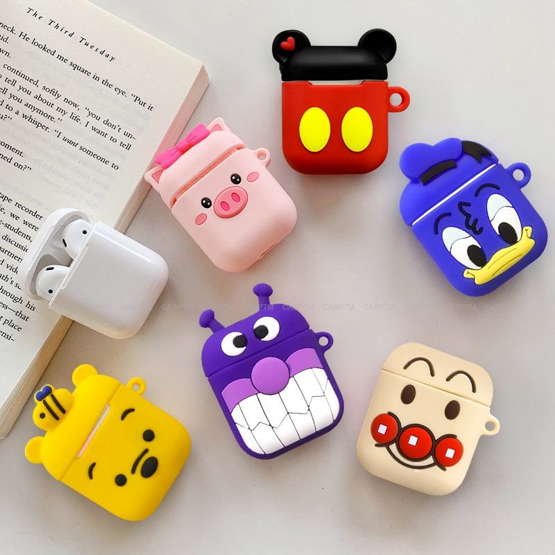 Soft Silicone Cute Cartoon Pig Wireless Bluetooth Headset Case For Apple Airpods 1 Earphone Cover For Airpods 2 Protective Cases