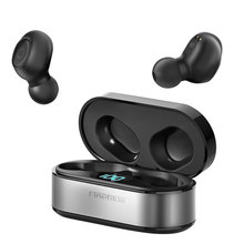 Fineblue air55 pro display led na orelha tws fone de ouvido bluetooth v5.0 jogos 2000mah carregamento poverbank fones de ouvido caso