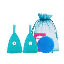 2 шт/лот медицинские силиконовые менструальные чаши женственная