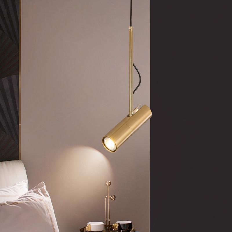 Kitchen LED Pendant Lamp Postmodern Hanging Spotlight Adjustable Droplights Bedroom Bedside Reading Lights LED Spot Down Light