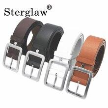 105*3.5CM Square buckle women leather female belt w
