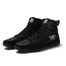Мужская профессиональная обувь для бокса, борцовки, мягкая подошва, дышащие армейские кроссовки, на шнуровке, тренировочные сапоги для боя, размеры 39-45