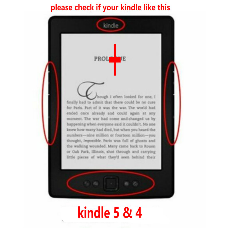 """1PC Leather Cover Case for Amazon Kindle 4/5 E-book Reader 6"""" Inch (not fit for kindle touch)-1"""