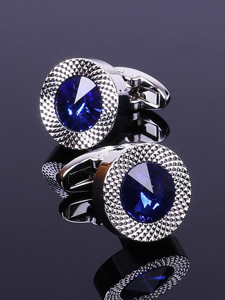 Pour homme PIN//75 Boutons de manchette /él/égants en argent 925 rhodi/é Crystals and Stones