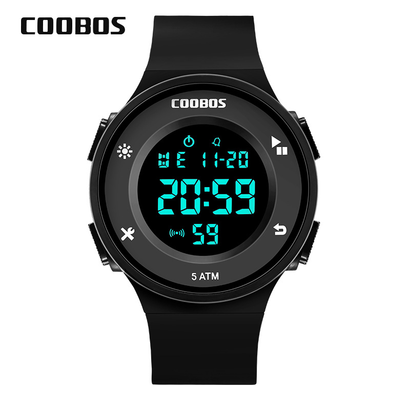 50 Meters Swimming Waterproof  Students Children Watch  Electronic Motion Meter  Waterproof LED  Luminous Kids Watches