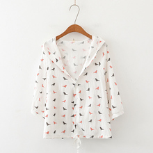 2020 Spring Summer Thin Coat Women's Jacket Long Sleeves Hooded Single-breasted