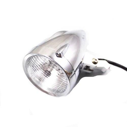 Chrome LED Angel Eye Head Light Headlight For Harley Honda Yamaha Kawasak Suzuki KTM Bikes Touring Chopper