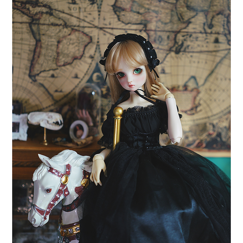 <font><b>BJD</b></font> dress <font><b>1/3</b></font> 1/4 1/6 <font><b>bjd</b></font> doll Vintage tube black dress for 1/6 1/4 <font><b>1/3</b></font> <font><b>BJD</b></font> <font><b>SD</b></font> doll accessories strapless Trailing skirts image