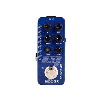 MOOER A7 Ambient Reverb Guitar Pedals Built-in 7 Reverb Effects Infinite Sustain Buffer Bypass Reverb Effect Pedal Guitar Parts mosky mp 51 spring reverb mini single guitar effect pedal true bypass guitar parts