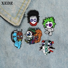 XEDZ black circle doll skateboard eyes grow up uncle mask headdress female enamel brooch thriller head badge backpack lapel pin fast charger replacement for porter cable 20v max lithium ion battery and black