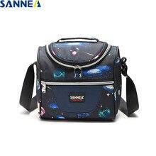 SANNE 6L Новая модная Термосумка для еды, школьный Ланч-бокс, изолированная сумка для льда, сохраняющая холод и тепло, портативная изолированна...