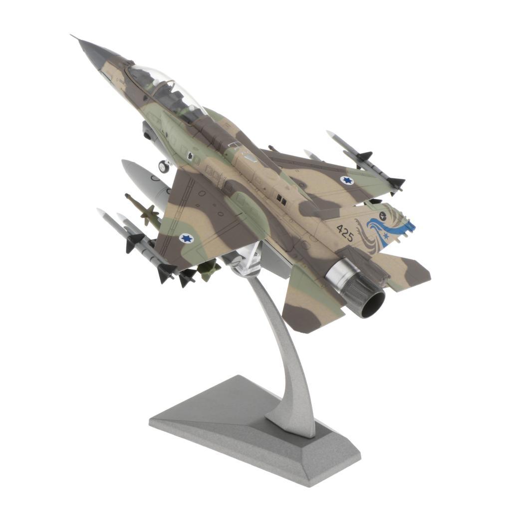 Самолет Модель F-16I боевые Тысячелетнего Сокола, израильская армия самолетов литья под давлением 1:72 металлический самолеты w/подставки Playset ...