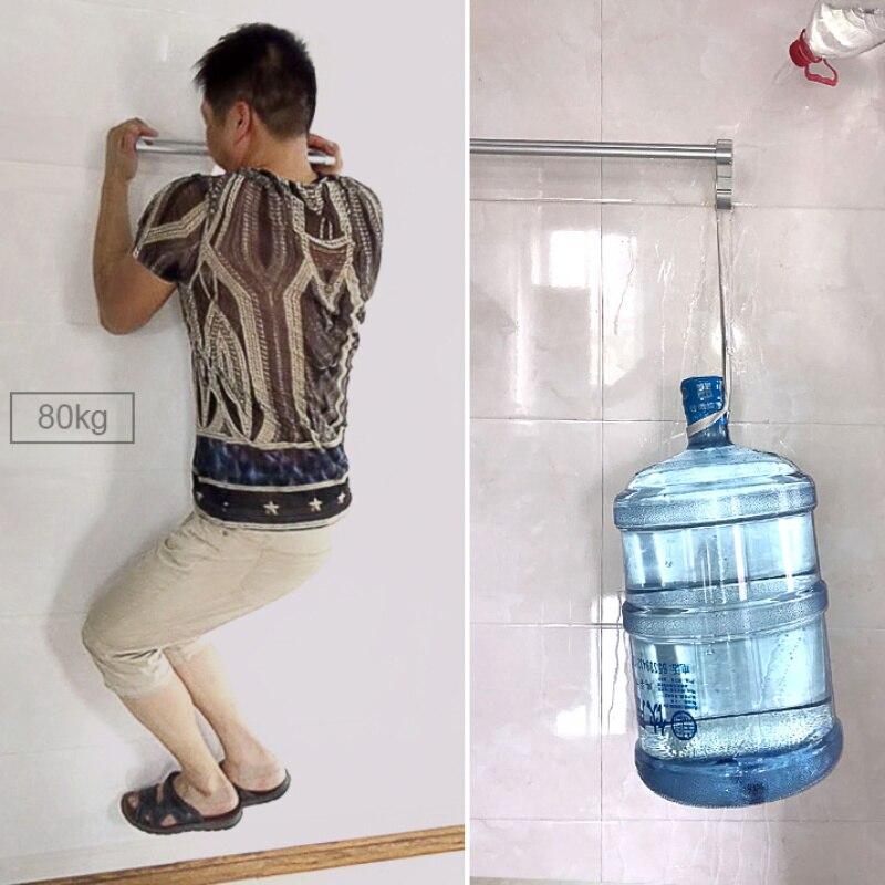 Полотенце держатель вешалка ванна полотенце вешалка стена вешалка полотенце штанга алюминий ванная кухня органайзер шкаф полка хранение вешалка