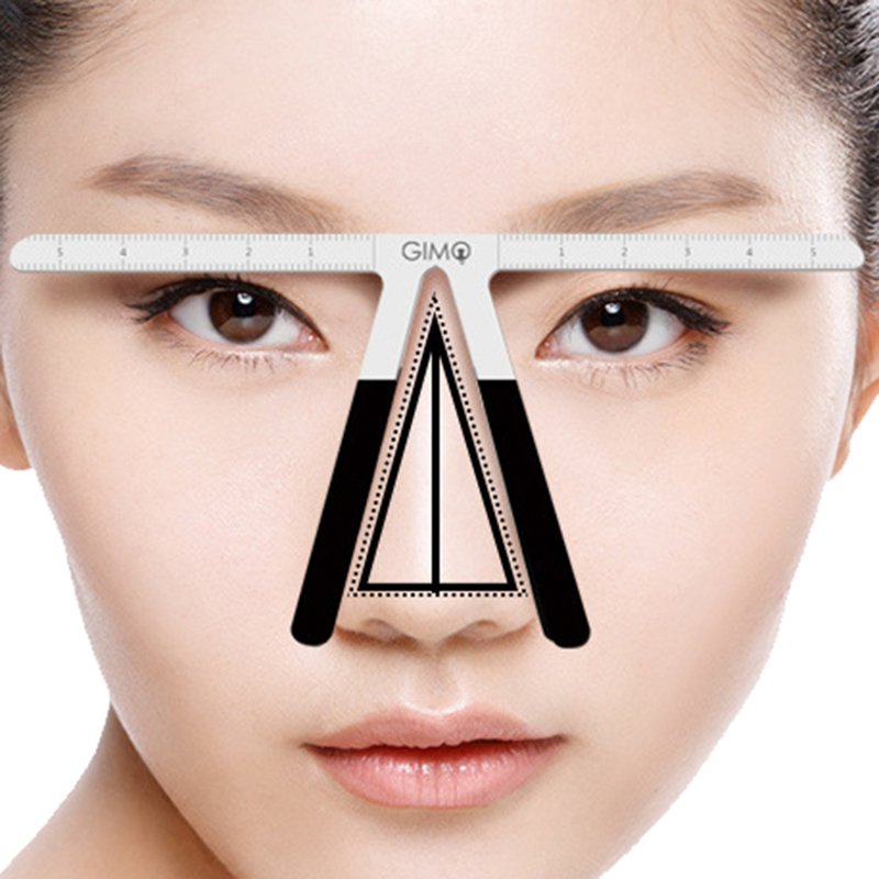 Image 5 - EyeBrow Tattoo Permanent Makeup Rule Microblading Eyebrow Tattoo Stencil Rule Reusable Template Definition Grooming Measure Tool-in Tattoo accesories from Beauty & Health