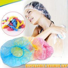 2021 venda superior 100 unidades/pacote banheiro cabelo único chuveiro tampões de banho plissado poeira estiramento chapéu salão de beleza do hotel boné de cabelo descartável