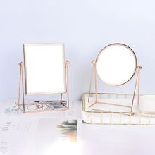 Bedroom Countertop Vanity Mirrors 360 degree Rotation Single Sided Mirror Decorative Table Makeup With Stand
