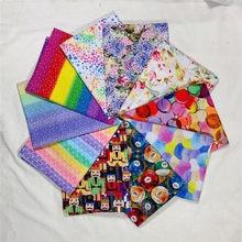 wide110cm Rainbow stars polka dot stripes 100% Cotton Fabric Cotton Fabric Sewing Material Diy Cloth Dress shirt Turban mask