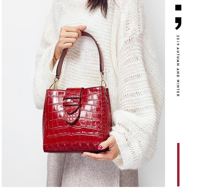 relevo padrão de crocodilo moda feminina bolsa