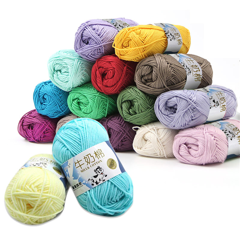 Combed Socks Blanket Cowls Yarn Hand-Knitted Milk Spun Soft Wool Baby 5-Ropes Cotton title=