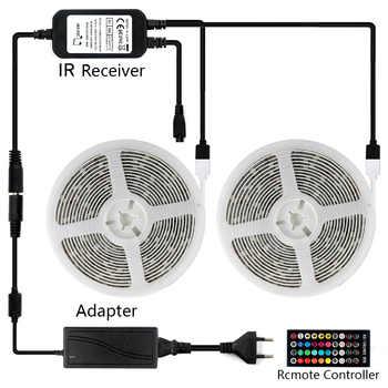 32ft/10M Led Strip Lights Led Lights APP Controlled Music Sync Color Changing Lights with 40 Keys IR Remote Control DC12V 5A