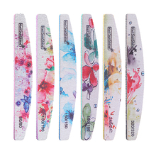 6PCS Professional Double Sided Sandpaper Nail Files, 80/100/150/180/240/320 Grit Gel Cosmetic Manicure Pedicure Tool
