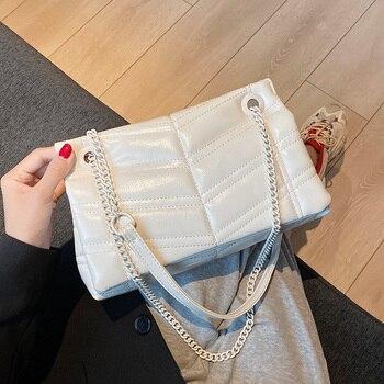 Embroidery Thread V-line Crossbody Bag for Women 2020 Fashion SAC a Main Female Shoulder Handbags and Purses - discount item  36% OFF Women's Handbags