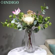 INDIGO Design - Protea Cynaroides Clematis Christmas Flower Arrangement  Artificial Table Decoration Free Shipping