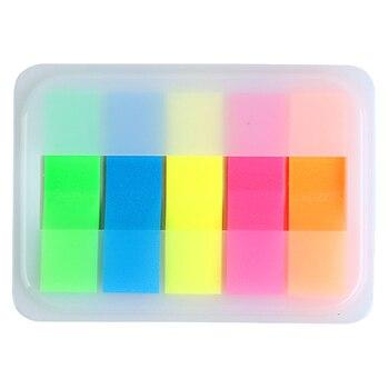 цена на Comix  Creative Memo Pad Bookmark Kawaii 5 Colors Self-Adhesive Sticky Notes Planner Stickers Office School Supplies