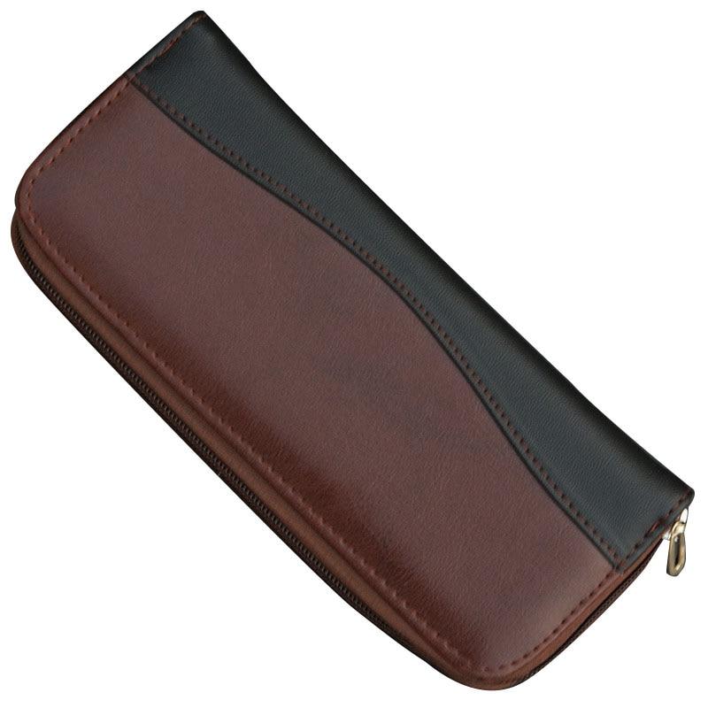 1PCS Professional Leather Case Tool Bag Hair Scissor Bag Salon Styling Tool Kit For Shear Barber Salon Pouch Holder
