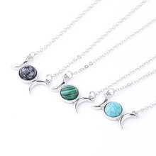 SEVENSTONE 2019 Reiki Women Pendant Natural Stone Gem Angel Eye Christmas Present Necklace Pendant for Female Charm Jewelry lol(China)