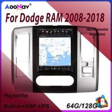 Android 9,0 2 DIN PX6 estilo Tesla Radio del coche de la pantalla para Dodge RAM 2008 2009-2018 coche Multimedia GPS estéreo Autoradio jugador