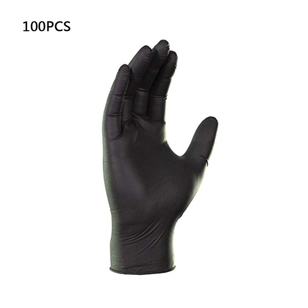 In Stock! Vinyl Gloves 100 Pcs / Box Disposable Powder-free Industrial Food Safety 3mm Translucent Pvc Gloves Nitrile Gloves