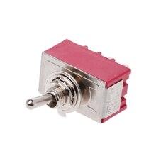 цена на MTS-403 On-Off-On Mini Miniature Toggle Switch 3 Position 4PDT Rocker Switch