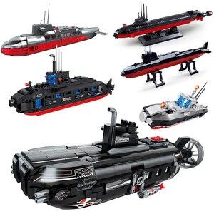 submarine sets military Ship ww2 warship aircrafted carrier navy building kits blocks kids toys bricks world war 2 sets weapon
