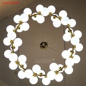 Image 4 - Lámpara colgante de araña colgante de cristal, estilo moderno, barra dorada negra, para comedor, Retro, LOFT