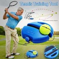 테니스 공 단식 훈련 연습 공 뒤로 기본 트레이너 도구 및 테니스 운동 자체 학습 리바운드 볼베이스 보드