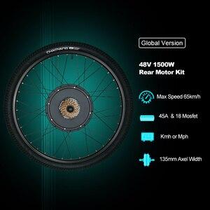 "Image 2 - Elektrikli bisiklet dönüşüm kiti V fren 26 ""bisiklet arka tekerlek 1500W 48VHub Motor PASIONEBIKE"