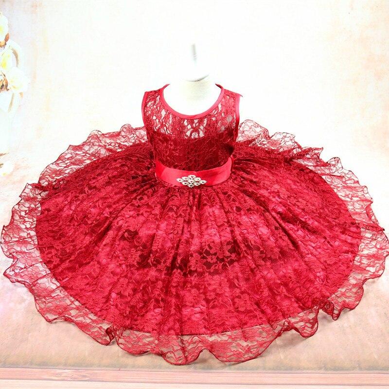 Europe And America Hot Selling Childrenswear Children Princess Wedding Dress Big Boy Sleeveless Lace Puffy Dress