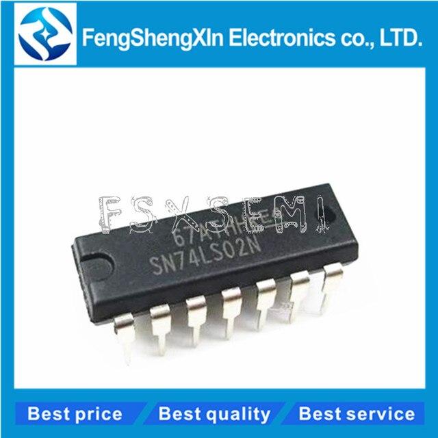 10 шт./лот, HD74LS02P DIP 14 HD74LS02 74LS02 SN74LS02N Quad 2 входа NOR Gate IC