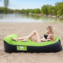 Inflatable Lounger Air Sofa Pouch Inflatable Couch Air Chair with Pillow Portable Waterproof Leaking for Camping Hiking Travel