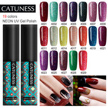 CATUNESS Color caramelo Gel brillante laca brillante pintura esmalte de uñas última brillante 5ML neón Gel polaco DIY uñas arte lámpara UV(China)