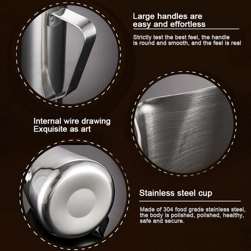 Handheld Stainless Steel Milk Frothing Jug Espresso Coffee Pitcher Barista Craft Coffee Latte Milk Frothing Jug Pitcher 2020 New 5