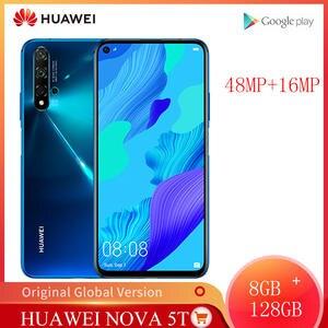 Huawei Hisilicon Kirin 980 Nova 5T 8GB 128GB Global Version GSM/LTE/WCDMA Nfc Supercharge/quick Charge 3.0