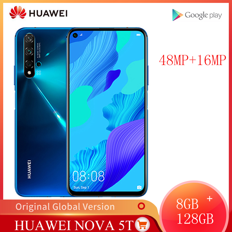 Global Version Huawei Nova 5T 8GB 128GB Smartphone 48MP Cameras 32MP Front Camera Mobile Phone 6.26'' Screen Kirin 980 Android 9|Cellphones| - AliExpress