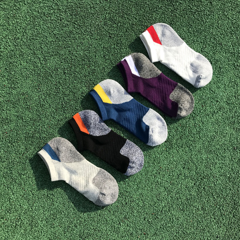 running - Men Running Sport Socks Cotton Compression Cycling Socks Professional Running Basketball Bike Socks Low Cut Run Sports Sock
