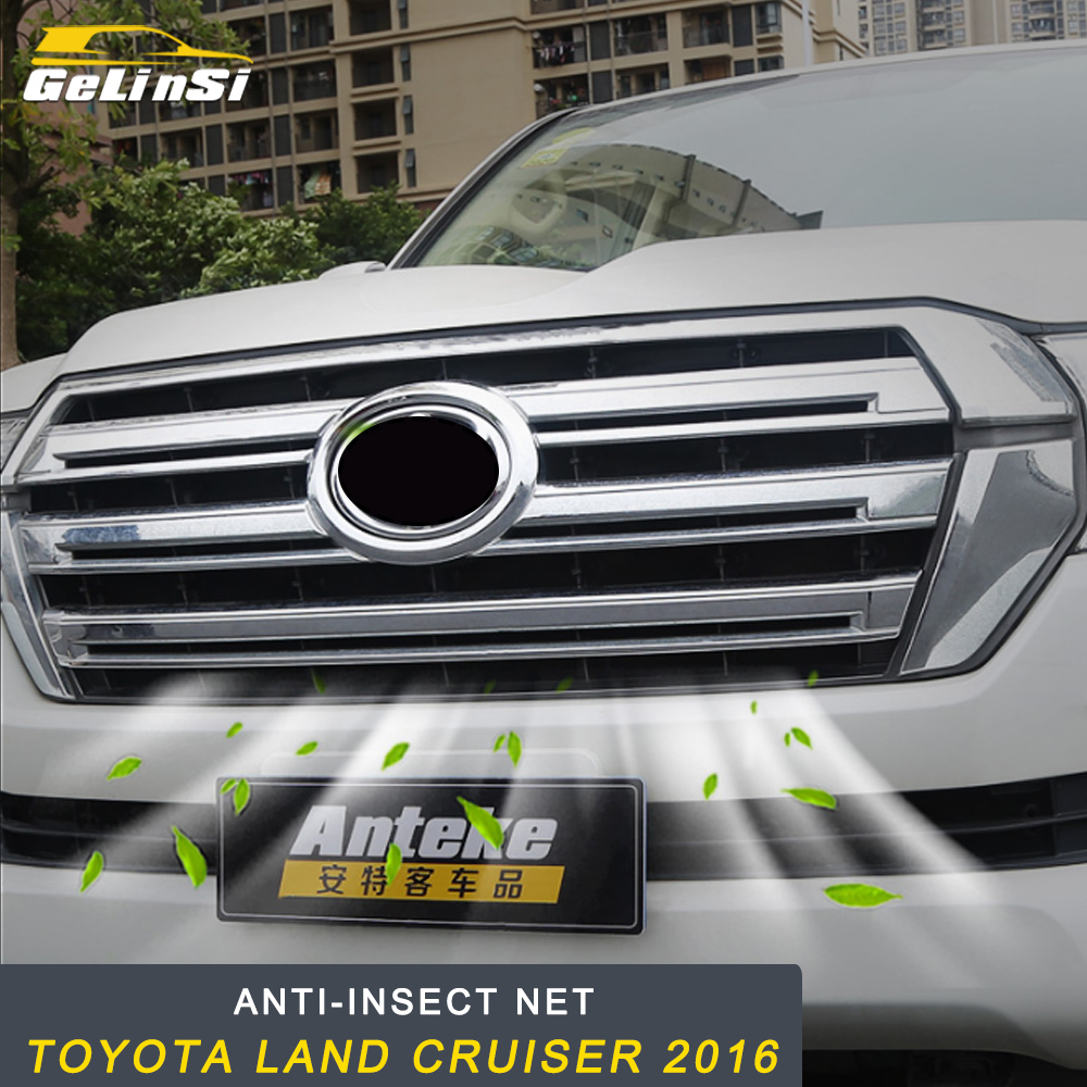 GELINSI Voiture Anti-insectes Solaire Capot Avant Grilles Calandre Net Maille Cadre de Pièces D'auto pour Toyota Land Cruiser 200 2016-2018