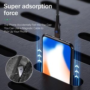 Image 5 - מגנטי כבל עבור iPhone סמסונג YKZ 3A מהיר טעינה מגנט טלפון USB כבל מיקרו USB סוג C כבל מגנט מטען & נתונים סנכרון